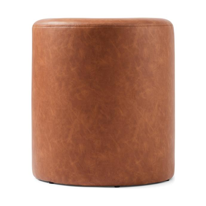 "Get cosy on the couch and put your feet up on this stylish [Tan Ottoman](https://www.kmart.com.au/product/tan-ottoman/3034883|target=""_blank""