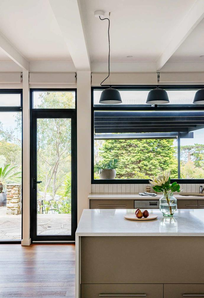 "**Kitchen** The double-glazed windows are an energy-efficient, argon-gas-filled commerical style with internal blinds by [Mardaw Interiors](https://www.mardaw.com/|target=""_blank""