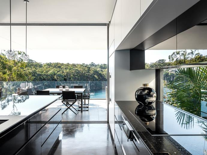 Polished and mirrored finishes deliver luxury worthy of the million-dollar views outside. living.