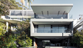 A cleverly designed harbourside home on a sloping site