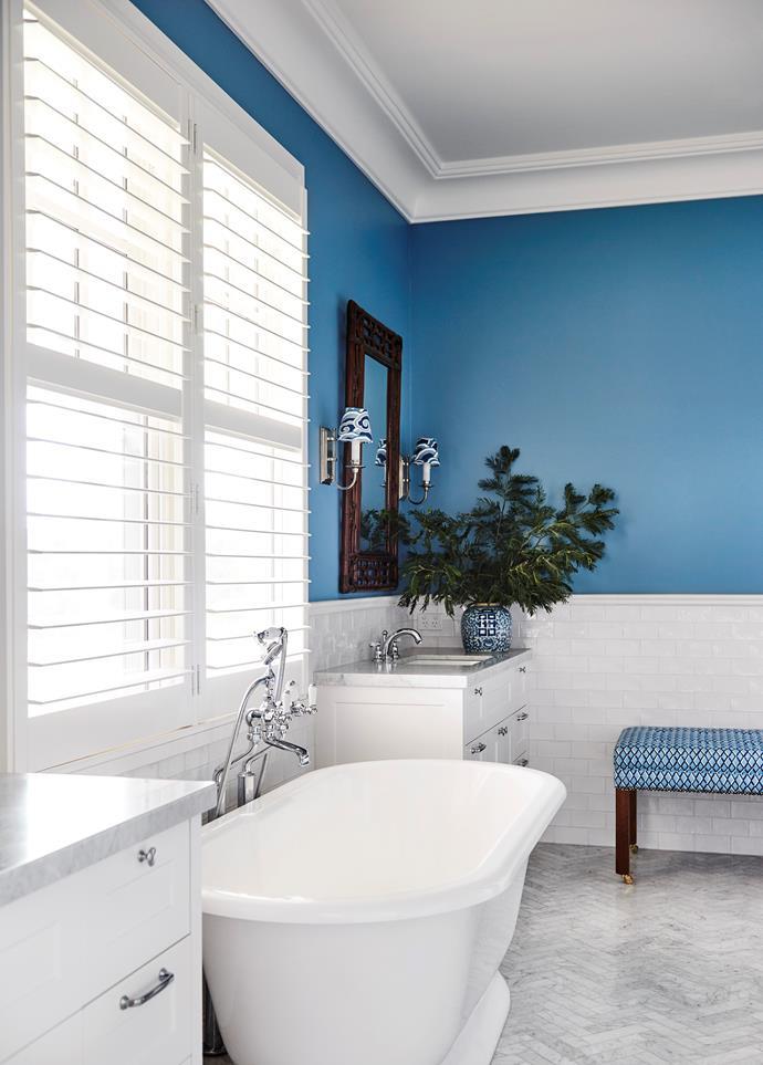The main bathroom has a Victoria & Albert York bath from The English Tapware Company.