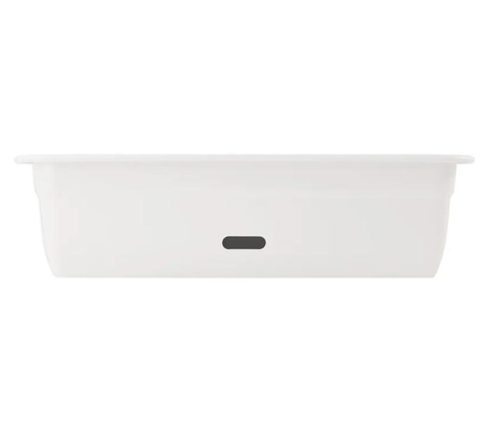 "HomeLeisure White WaterSaver Contemporary Rectangular Planter (600mm), $20, [Bunnings](https://www.bunnings.com.au/homeleisure-600mm-white-watersaver-contemporary-rectangular-planter_p2941649|target=""_blank"")"