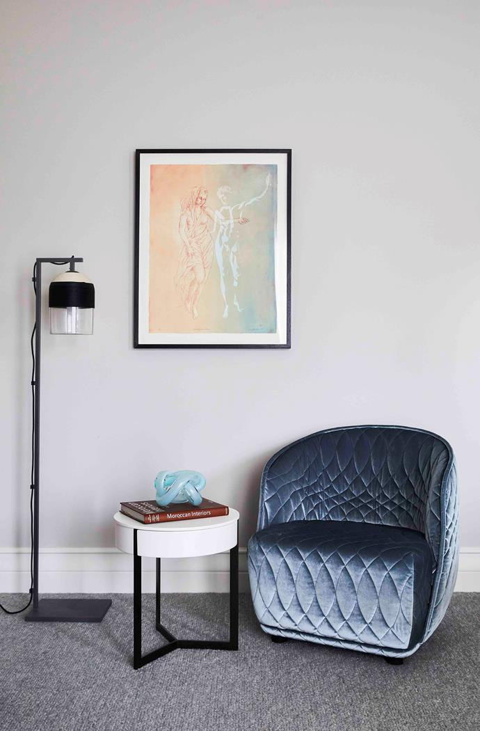 Dancing In A Dream' artwork by Louis Kahan and 'Redondo' chair by Moroso from Hub.