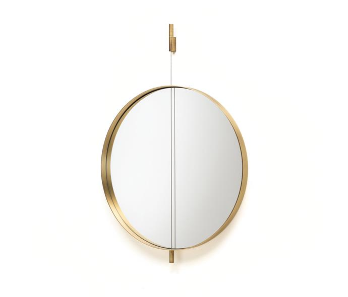 "Living Divani Galileo mirror, from $3358, [Space Furniture](https://www.spacefurniture.com.au/products/living-divani-galileo-mirror-60cm-lacquered|target=""_blank""