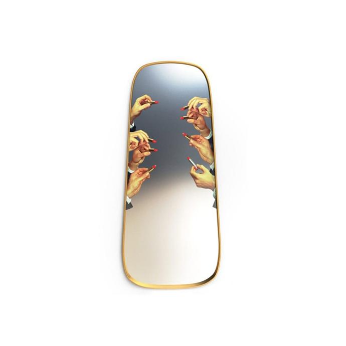 "Seletti wears Toiletpaper - Lipsticks Mirror (tall), $1000, [Fenton & Fenton](https://www.fentonandfenton.com.au/collections/all/products/toiletpaper-mirror-lipsticks-140-x-62cm|target=""_blank""|rel=""nofollow"")"