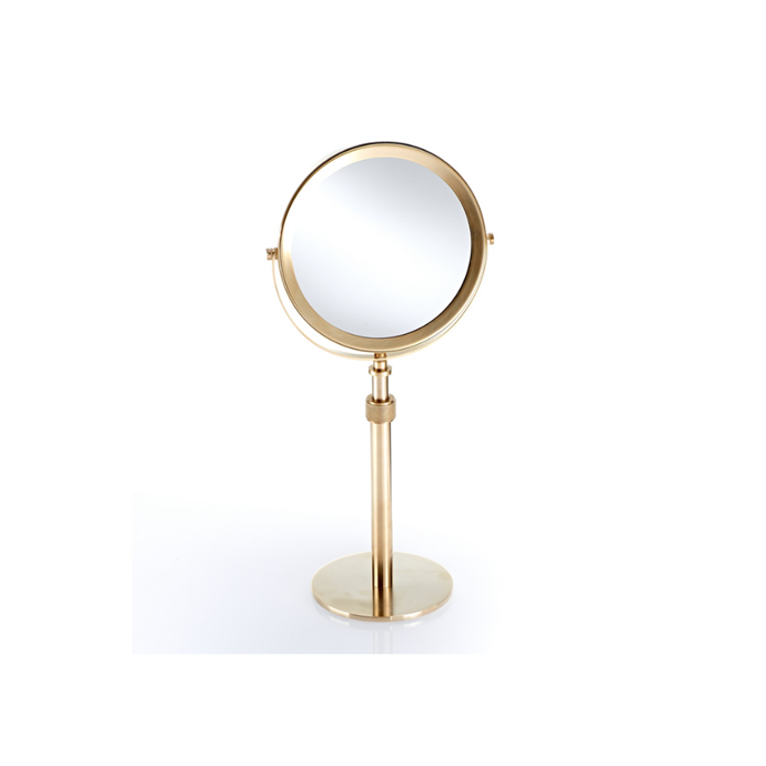 "Decor Walter Club Cosmetic mirror, $560, [Becker Minty](https://www.beckerminty.com/decor-walther-dw-cosmetic-mirror-gold-5-x-magnific.html|target=""_blank""