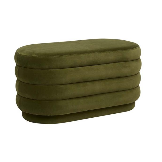"Kennedy Ribbed Oval Ottoman, $1,215, [Globe West](https://www.globewest.com.au/browse/kennedy-ribbed-oval-ottoman|target=""_blank""