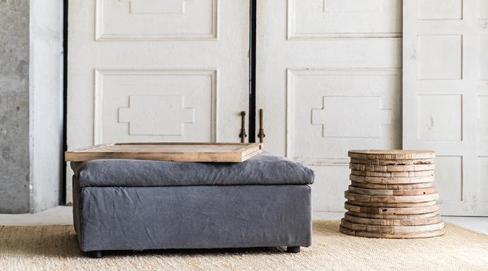 "Leo Ottoman in Stone, $1,250, [MCM House](https://www.mcmhouse.com/collections/ottoman/products/leo-ottomon|target=""_blank""
