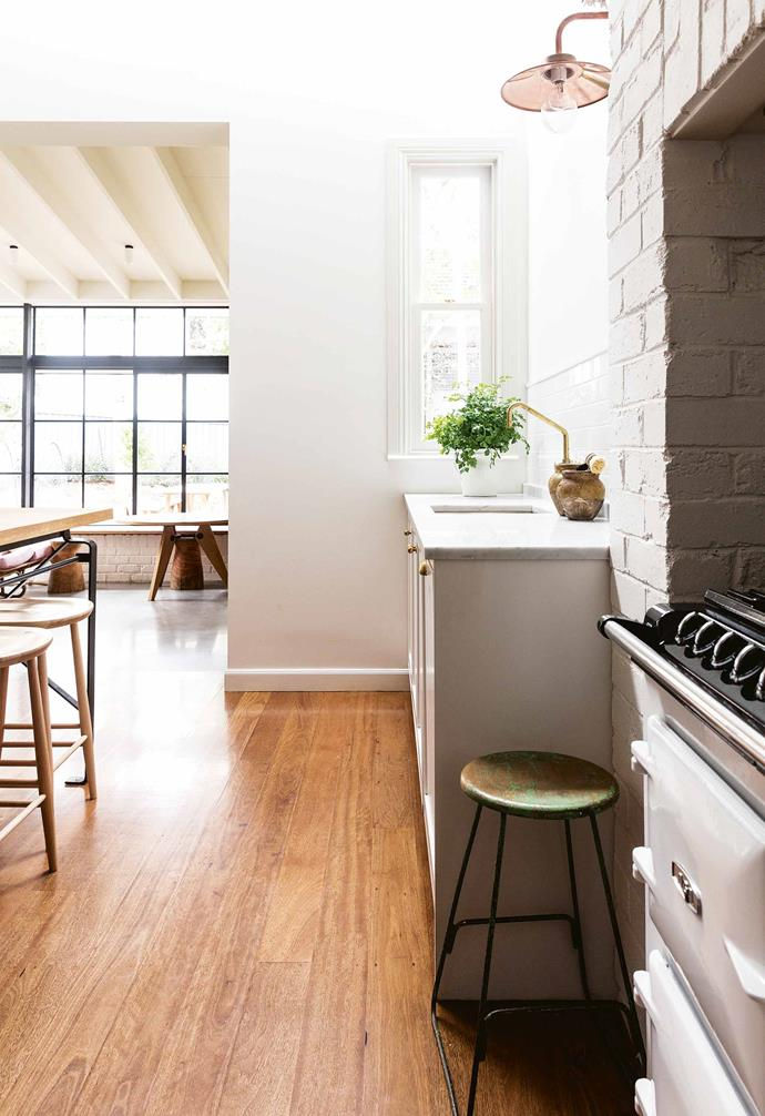 """We decided to keep the structural work to a minimum,"" she says. ""We didn't move anything around in terms of the rooms. I didn't want it to be too open plan because that doesn't suit the style of the home. Ultimately, I saw this [as a restoration rather than a renovation](https://www.homestolove.com.au/restoring-heritage-homes-19898