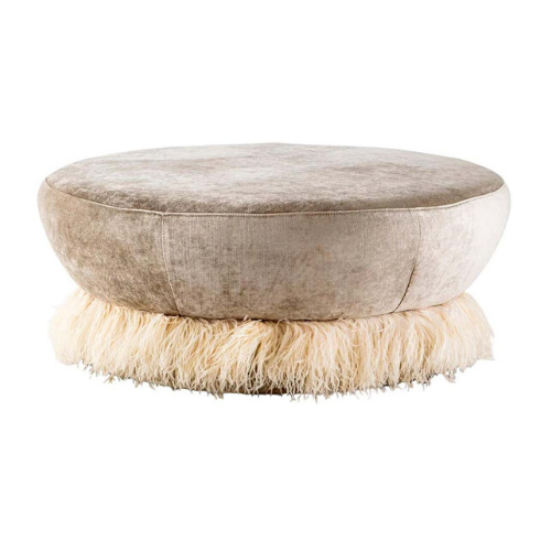 "Velvet, Bronzed Steel, Brass & Ostrich Feather - Ostrich Fluff Ottoman, $1,770.55, [1st dibs](https://www.1stdibs.com/furniture/seating/ottomans-poufs/velvet-bronzed-steel-brass-ostrich-feather-ostrich-fluff-ottoman/id-f_16984032/|target=""_blank""
