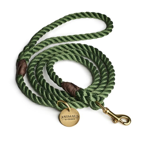 "Moss Green + Brass Rope dog leash, $55, [Hard To Find](https://www.hardtofind.com.au/153765_moss-green-brass-rope-dog-leash|target=""_blank""