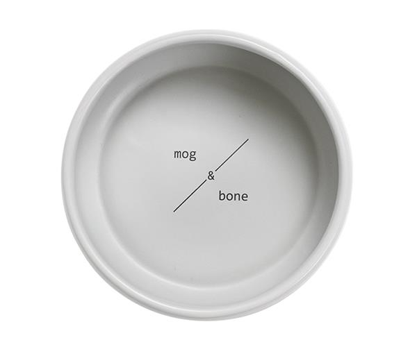 "Mog and Bone Ceramic Bowl in Grey, $27.97, [Pet Circle](https://www.petcircle.com.au/product/mog-and-bone-ceramic-bowl-grey/dam4476|target=""_blank""