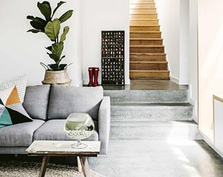 tasmanian cottage living room