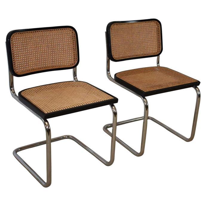 "Pair of Midcentury Cesca Italian Chairs by M. Breuer. $1,628.69. [1st dibs](https://www.1stdibs.com/furniture/seating/chairs/pair-of-midcentury-cesca-italian-chairs-m-breuer/id-f_15941701/ target=""_blank"" rel=""nofollow"")"