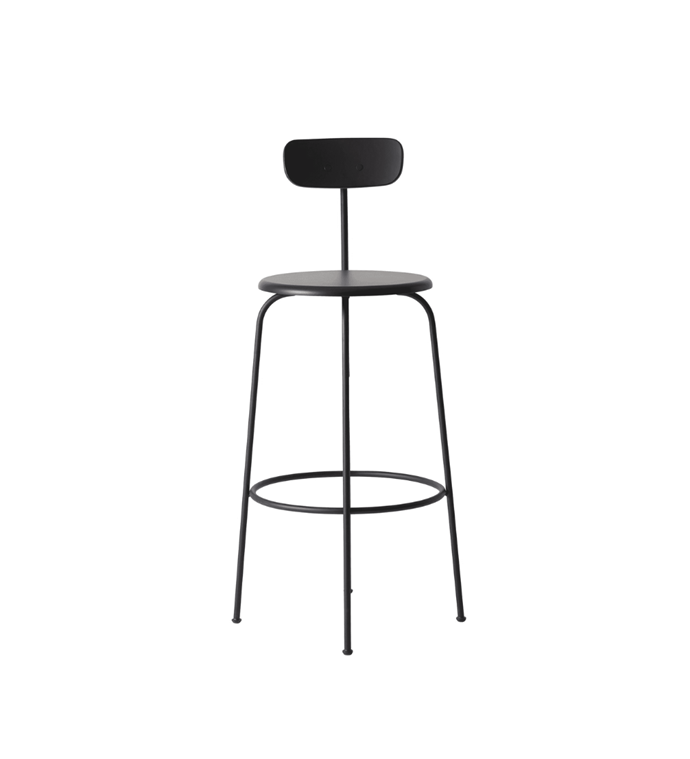 "Afteroom bar stool, $699, [Design Stuff](https://www.designstuff.com.au/pre-order-menu-afteroom-bar-chair-black/|target=""_blank""
