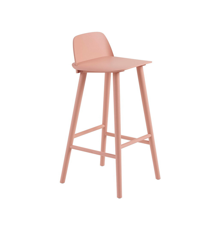 "Muuto 'Nerd' bar stool, $805, [Finnish Design Shop](https://www.finnishdesignshop.com/furniture-chairs-bar-stools-chairs-nerd-bar-stool-tan-rose-p-27590.html|target=""_blank""
