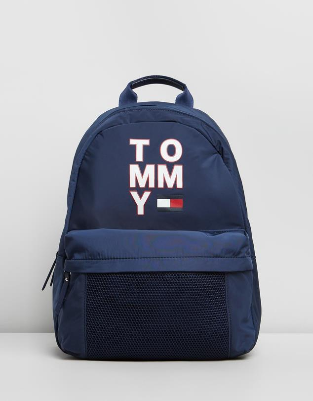 """Tommy Hilfiger Large Logo Backpack - Kids, $129, [The Iconic](https://www.theiconic.com.au/large-logo-backpack-kids-1020154.html