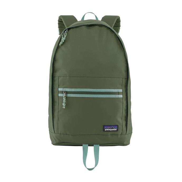 """Arbor Day Pack 20L in Green, $119.95, [Patagonia](https://www.patagonia.com.au/products/arbor-day-pack-20-l-48016-cmpg