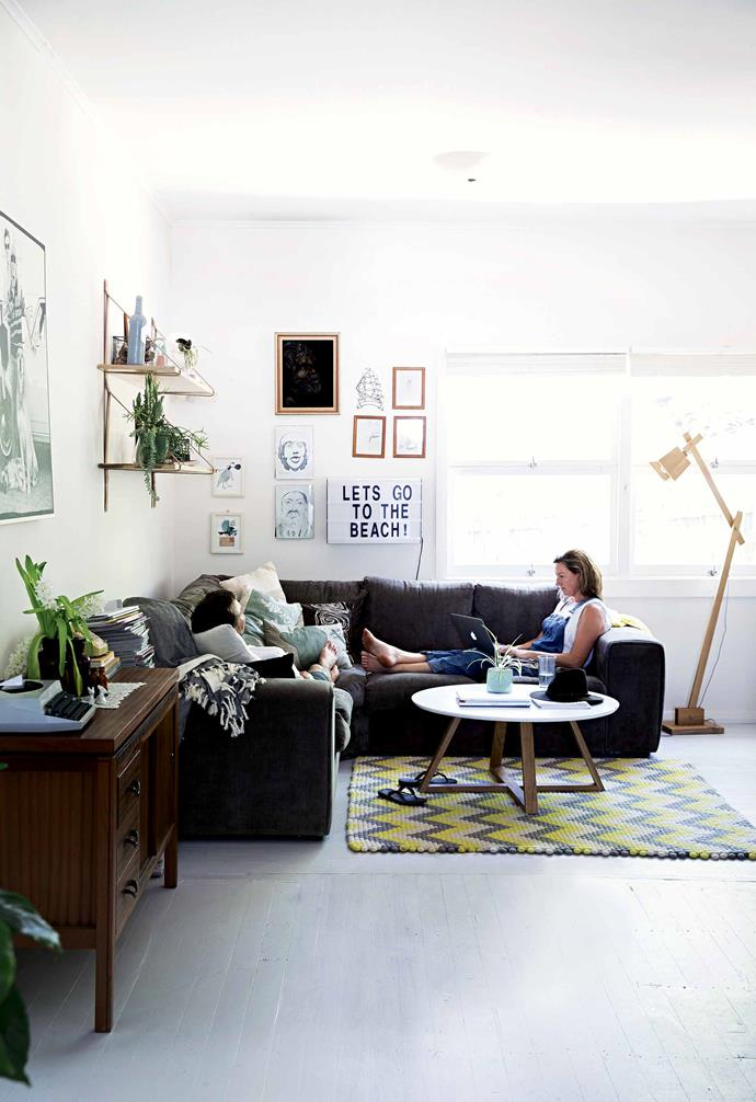 """**Establish zones within an open-plan space**<br><br>""""The moment we had a complete [open-plan space](https://www.homestolove.com.au/20-best-open-plan-living-designs-17877
