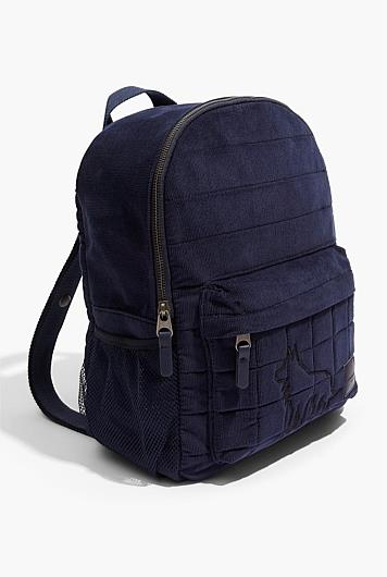 "Wolf Cord Backpack, 59.95, [Country Road](https://www.countryroad.com.au/shop/child/boys/accessories/60253622-448/Wolf-Cord-Backpack.html|target=""_blank""