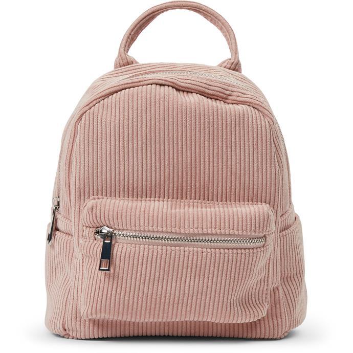 "K-D Kids Cord Backpack - Blush, $15, [Big W](https://www.bigw.com.au/product/k-d-kids-cord-backpack-blush/p/72200/|target=""_blank""|rel=""nofollow"")"