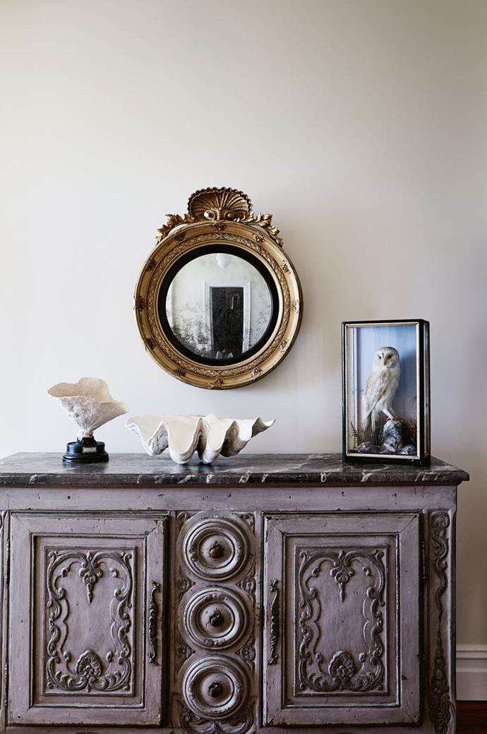 "When it comes to accessorising, think about shades of tortoiseshell, pearl, ebony, seashell, crystal and bone like the styling on this sideboard in a [Tasmanian cottage decorated with antique furniture](https://www.homestolove.com.au/cottage-decorated-with-antique-furniture-14029|target=""_blank"")."