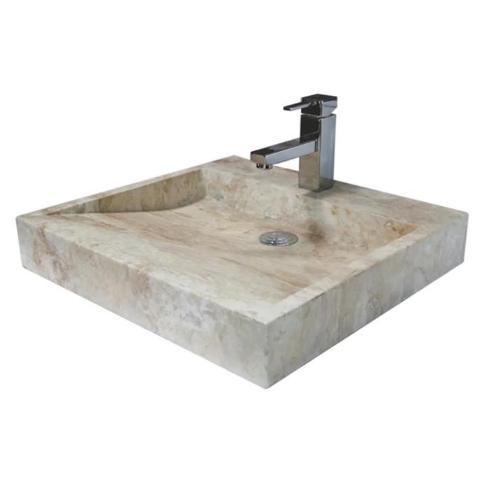 "Forme Natural Stone Square Honed Basin, $612, [Bunnings](https://www.bunnings.com.au/forme-natural-stone-square-honed-basin_p0183553|target=""_blank""|rel=""nofollow"")"