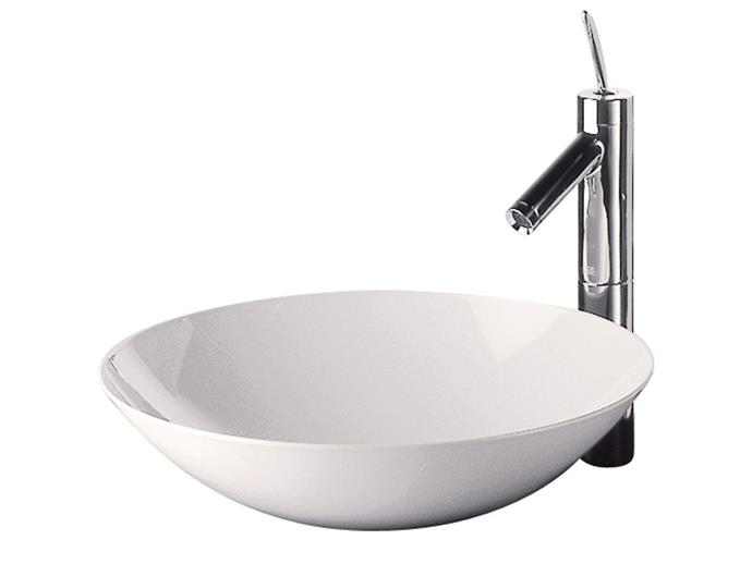 "ALAPE Circa Above Counter Basin Vessel 360mm White, $891, [Reece](https://www.reece.com.au/product/alape-circa-above-counter-basin-vessel-360mm-white-1805858?query=basin|target=""_blank""