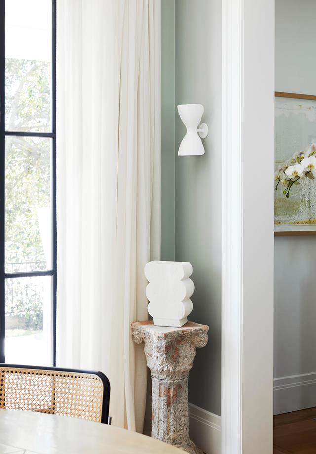 """The fresh green in this [historic home in Sydney with a modern Mediterranean revamp](https://www.homestolove.com.au/historic-home-revamp-19835