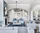 A stately mansion receives a serene interior makeover