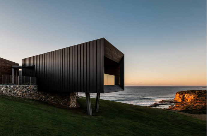 """**[Dovecote, Gerringong, NSW](https://www.airbnb.com.au/luxury/listing/35903024?location=Australia&source_impression_id=p3_1593752353_rmhpbClOV38G0VEE&guests=1&adults=1 target=""""_blank"""" rel=""""nofollow"""")** <br><br> Dovecote is the love child of mid-century modern design and ultra modern architecture. The unique oceanfront retreat is set on a private 150-acres of rolling South Coast hills, with views of crystal-blue waters. It can fit up to fourteen guests and is equipped with a firepit, pool and 5.5 baths (not sure what half a bath looks like but if it's part of Dovecote, who cares). <br><br> Price: from $4,300 per night."""