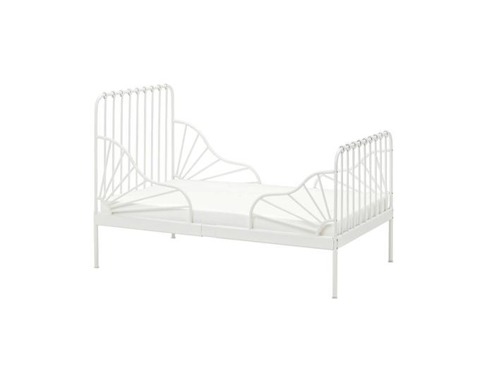 "MINNEN Bed Frame, $149, [IKEA](https://www.ikea.com/au/en/p/minnen-ext-bed-frame-with-slatted-bed-base-white-s79124620/ target=""_blank"" rel=""nofollow"")"