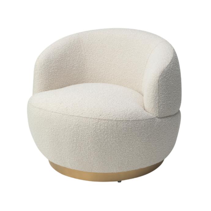 "Vitale boucle sand armchair, $2475, [James Said](https://www.jamessaid.com.au/vitale-boucle-sand-armchair.html|target=""_blank""|rel=""nofollow"")"