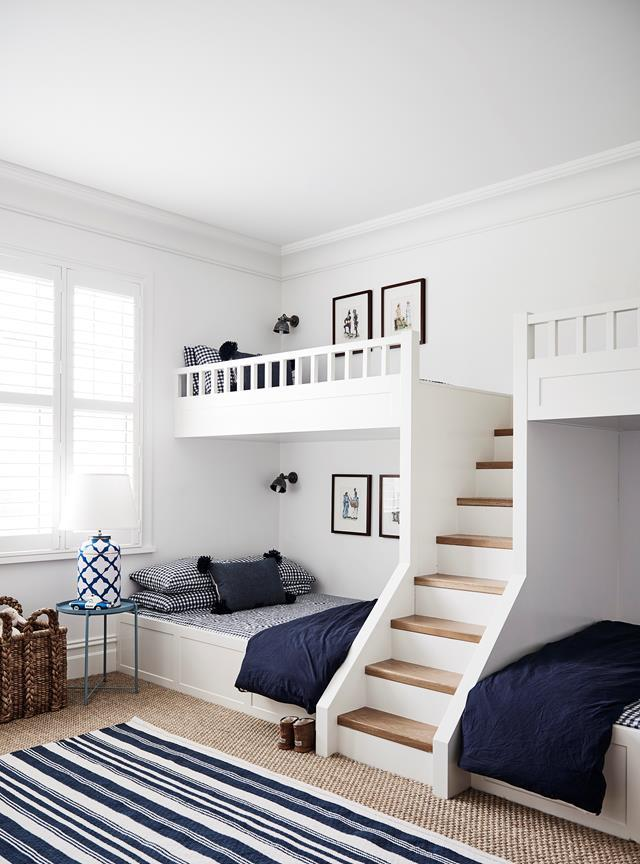 """This spacious [bedroom](https://www.homestolove.com.au/modern-australian-farmhouse-design-21558