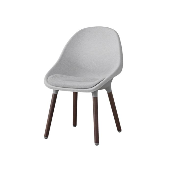 "'Baltsar' dining chair in light grey, $149, from [IKEA](https://www.ikea.com/au/en/p/baltsar-chair-light-grey-brown-50432493/|target=""_blank""
