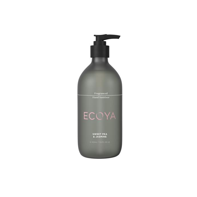 """**Sweet Pea & Jasmine Fragranced Hand Sanitiser, $29.95 (450ml), [Ecoya](https://www.ecoya.com.au/collections/fragranced-sanitisers/products/sweet-pea-jasmine-fragranced-hand-sanitiser