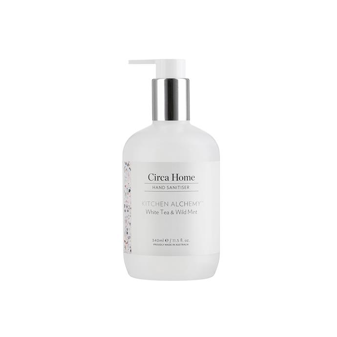 """**White Tea & Wild Mint hand sanitiser, $24.95 (340ml), [Circa Home](https://circahome.com.au/collections/hand-sanitiser/products/white-tea-wild-mint-340ml-hand-sanitiser