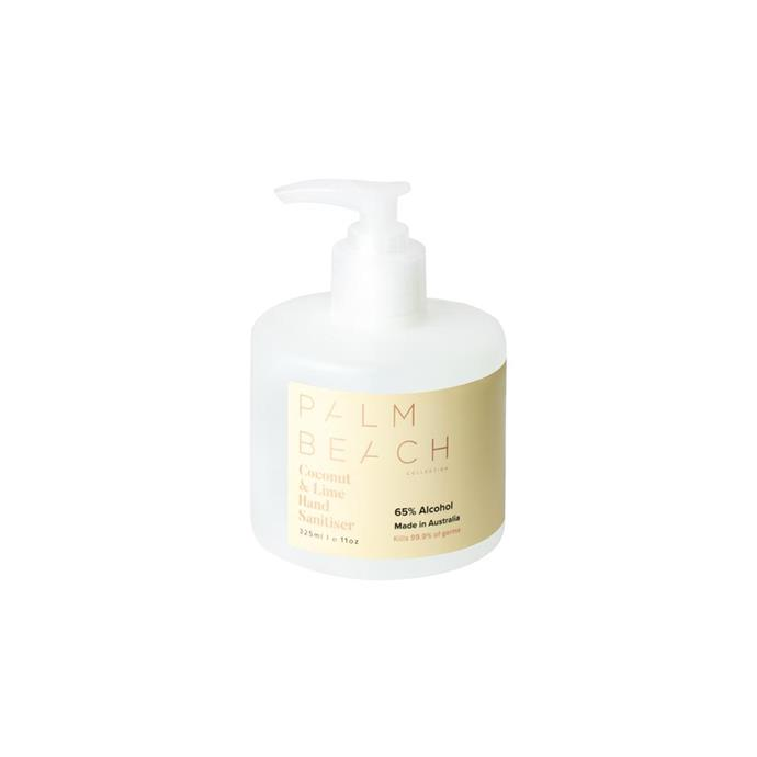 """**Coconut & Lime Luxury Hand Sanitiser, $24.95 (325ml), [Palm Beach Collection](https://palmbeachcollection.com.au/products/coconut-lime-br-250ml-hand-sanitiser