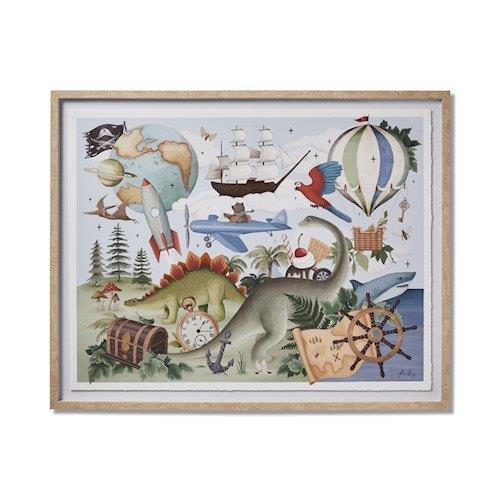 "Adairs Kids Fleur Harris Adventureland Wall Art, $149.99, [Adairs](https://www.adairs.com.au/adairs-kids/home-gifts/wall-art/adairs-kids/fleur-harris-adventureland-wall-art/|target=""_blank""