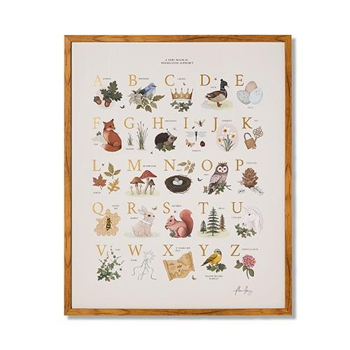"Adairs Kids Fleur Harris Woodland ABC Chart, $129, [Adairs](https://www.adairs.com.au/adairs-kids/home-gifts/wall-art/adairs-kids/fleur-harris-woodland-abc-chart/|target=""_blank""|rel=""nofollow"")"
