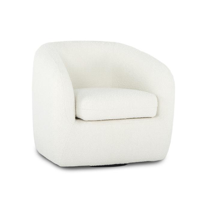 "'Jasper' boucle swivel armchair, $995, [Life Interiors](https://www.lifeinteriors.com.au/life-interiors-jasper-boucle-swivel-armchair-white|target=""_blank""|rel=""nofollow"")"