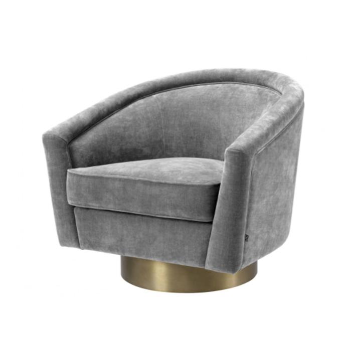 "Catene Clarck grey swivel chair, $2460, [James Said](https://www.jamessaid.com.au/catene-clarck-grey-swivel-chair.html|target=""_blank""|rel=""nofollow"")"