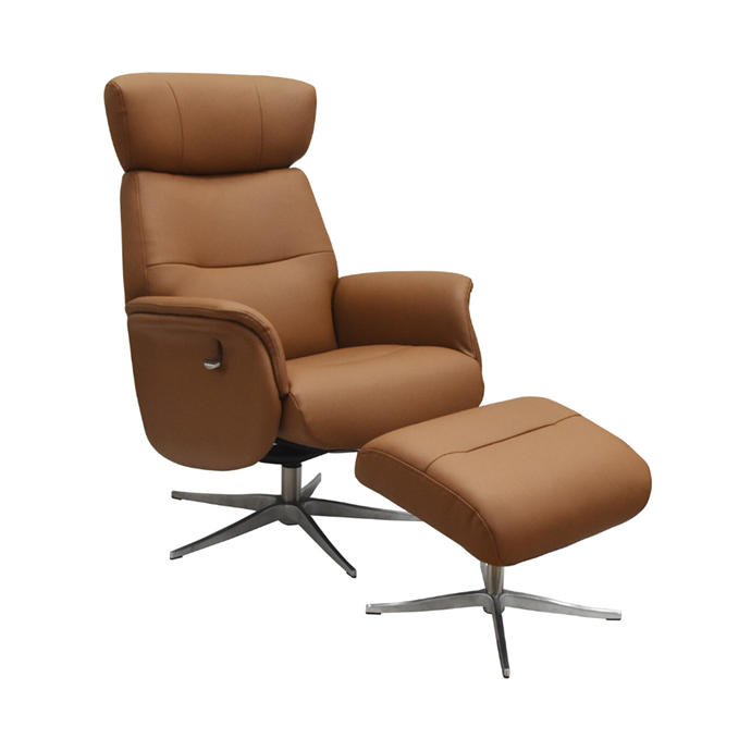 """'Stanley' leather recliner chair with footstool, $1179, [Temple & Webster](https://www.templeandwebster.com.au/Stanley-Leather-Recliner-Chair-with-Footstool-MRGR1073.html