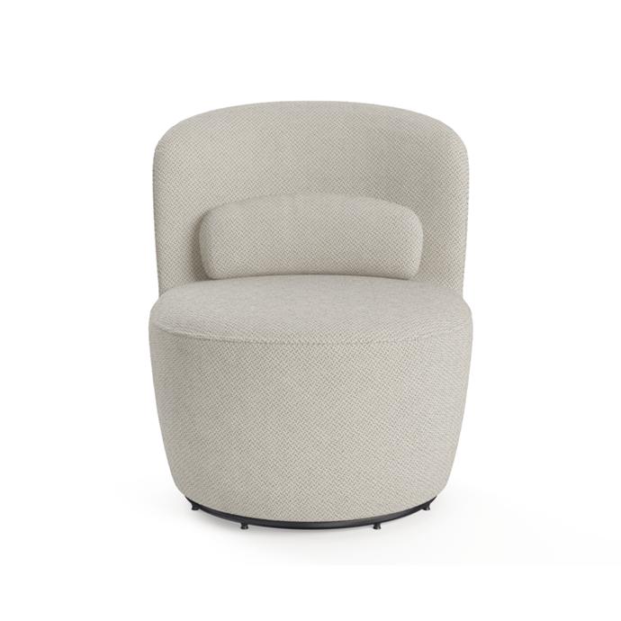"'Ada' swivel accent chair, $499, [Brosa](https://www.brosa.com.au/products/ada-swivel-accent-chair?SKU=CHAAAD03GGRY|target=""_blank""|rel=""nofollow"")"