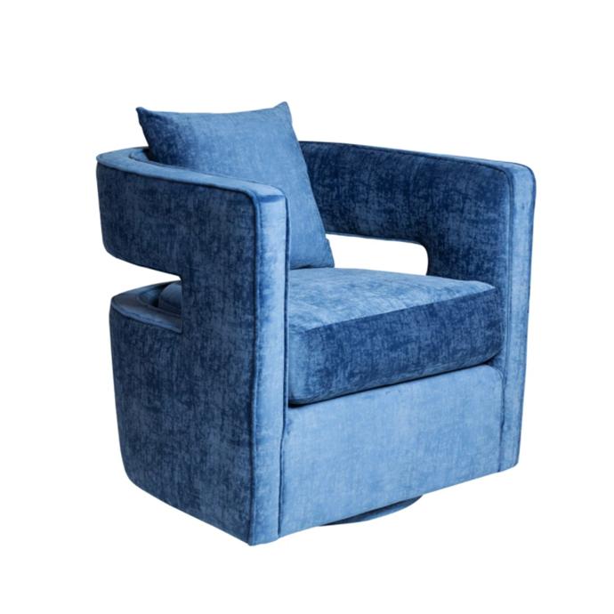 "Rowntree swivel chair, $1079, [Interiors Online](https://interiorsonline.com.au/products/rowntree-swivel-chair|target=""_blank""|rel=""nofollow"")"