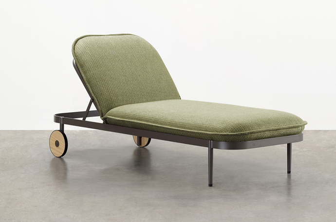 """Trace Sunlounge Designed By Adam Goodrum, POA, [Tait.](https://madebytait.com.au/product/trace-sunlounge/