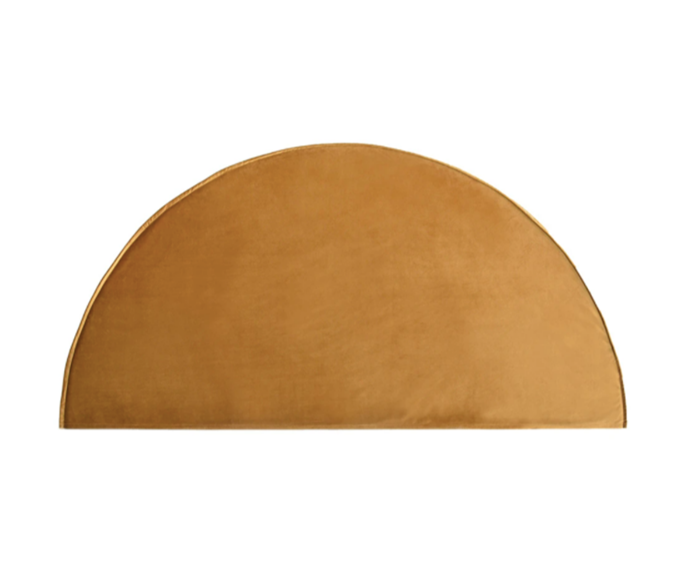"""**Create Estate half moon queen bedhead, $1150, [Design Edit](https://www.thedesignedit.com.au/products/half-moon-queen-bedhead-velvet-slipcover?variant=21225595109461&currency=AUD&utm_source=google&utm_medium=cpc&utm_campaign=google+shopping&gclid=Cj0KCQjw6ar4BRDnARIsAITGzlDg4wA_959A2bZIQvN5Evv_gaY4ChXSHrbMBdsynqI036Gx1Q6BpBsaAgsJEALw_wcB
