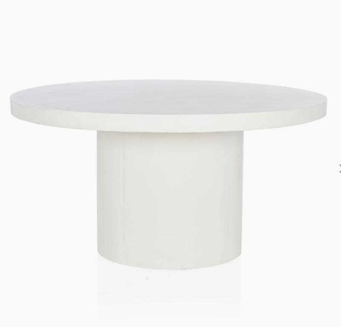 "Regent Concrete Indoor/Outdoor Dining Table, $1,995, [Coco Republic](https://www.cocorepublic.com.au/regent-dining-table-7627?m=configurable_scp&182=2017&314=61&aid=9266&utm_term=&utm_campaign=Shopping+Network+First+Campaign&utm_source=adwords&utm_medium=ppc&hsa_acc=8201982823&hsa_cam=6477582936&hsa_grp=83335501608&hsa_ad=380680991513&hsa_src=g&hsa_tgt=pla-294682000766&hsa_kw=&hsa_mt=&hsa_net=adwords&hsa_ver=3&gclid=CjwKCAjwjLD4BRAiEiwAg5NBFqgBrj4gzks6Y_rWYfqbts1Z24OO7eo-SAeJN4O8vLP7PB4gWHx_EhoCLnMQAvD_BwE|target=""_blank""|rel=""nofollow"")"