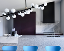 Hue dimensional: Lucy Bock's cool and contemporary home