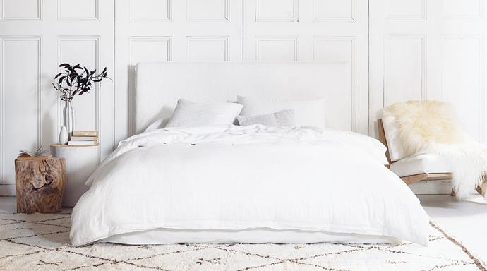 """Joe Bed in White, $2,500, [MCM House](https://www.mcmhouse.com/collections/beds/products/joe-bed